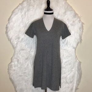 Zara Trafaluc Split Side Grey Tunic Top